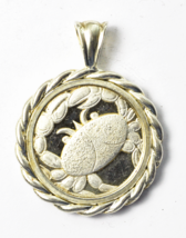 Sterling Silver Cancer 69 6-22 7-22 Crab Romantic Sensitive Diplomatic 1... - $39.59