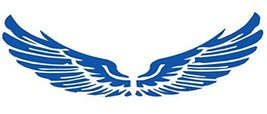 Set of 2 Wings Family Car Stickers Unique Design Car Sticker Blue