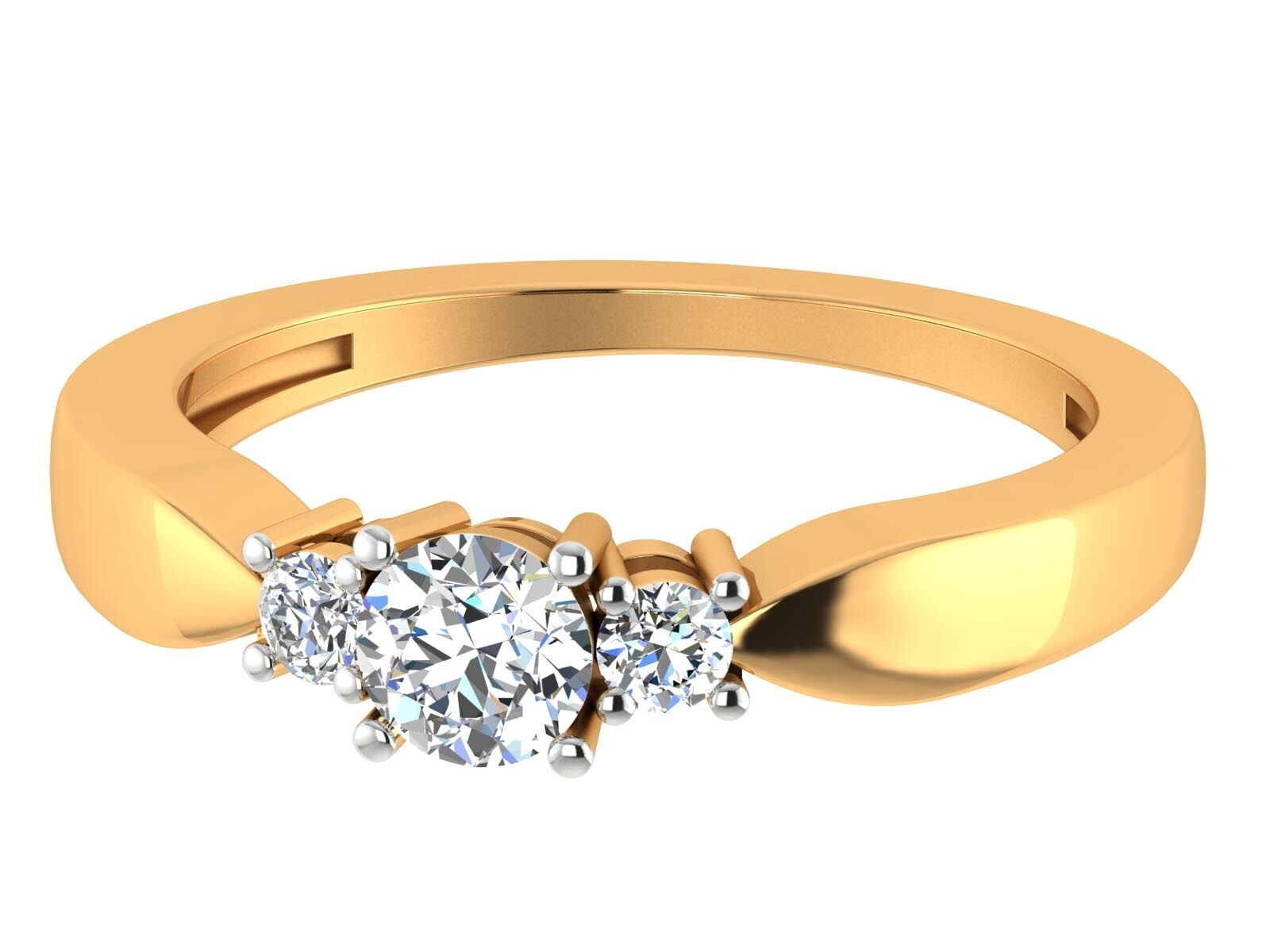 0.47Ct Certifed Brilliant Cut Solitaire Diamond 14k yellow gold Wedding Ring