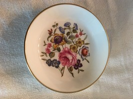 royal worcester saucer flower pattern - $9.89