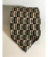 Ferrell Reed Necktie 100% Silk neck tie Blue Burgundy Cream Gray  - $13.61