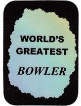 "World's Greatest Bowler 3"" x 4"" Love Note Sports Sayings Pocket Card, Greeting C - $2.69"