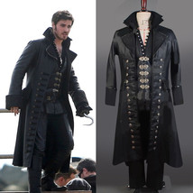 Once Upon A Time Captain Hook Killian Jones Cosplay Costume Attire Outfit - $112.80+