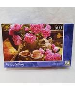 Peonies English Tea 500 Piece Jigsaw Puzzle 8+ Years 2009 LPF - $9.99