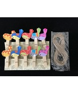 30pcs Colorful Birds Pin Clothespins,Photo Paper Peg,Clips,Birthday Part... - $7.20