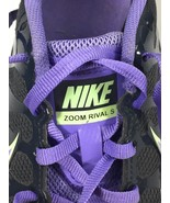 Nike Zoom Rival S Racing Track Spikes Shoes Charcoal Gray Purple Women's 8 - $19.18