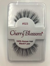CHERRY BLOSSOM EYELASHES MODEL# 523 100% HUMAN HAIR BLACK 1 PAIR PER EAC... - $1.48+
