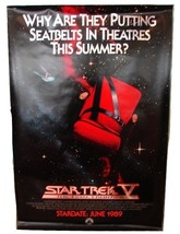 1989 STAR TREK V Original Advance Movie POSTER 27x40 Vintage 1-Sided Rol... - $39.99