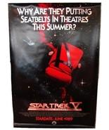 1989 STAR TREK V Original Advance Movie POSTER 27x40 Vintage 1-Sided Rol... - $39.99