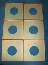 Six Lot VTG Green 45 RPM Heavy Stock Outside Seam Vinyl Wax Record Sleev... - $9.96