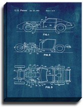 Sports to Vintage Car Patent Print Midnight Blue on Canvas - $39.95+