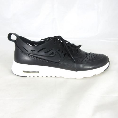 Primary image for 10 - Nike Air Max Thea JOLI Premium Leather Black White Womens Shoes 1021KD