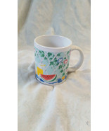 Coffee Mug With Spring/Summer Themed Design - $9.25