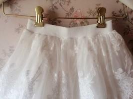Mini Lace Baby Tutu Girl White Tutu Skirt image 5