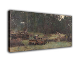 "Landscape Art Oil Painting Print On Canvas Modern Decor""Wood Splitters""F... - $17.67+"