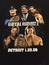 WWE Authentic Royal Rumble 2009 Rare T-shirt Men's Sz XL Black Short Sle... - $12.99