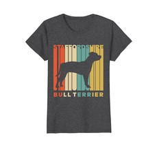 Vintage Style Staffordshire Bull Terrier Silhouette T-Shirt - $19.99+