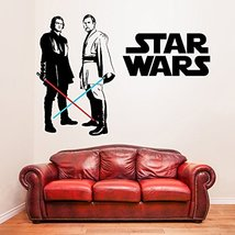 (55'' x 38'') Star Wars Vinyl Wall Decal / Obi Wan Kenobi & Anakin Skywalker wit - $57.69