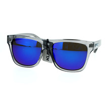 KUSH Sunglasses Hipster Fashion Multicolor Mirror Lens Slate Gray Frame - $9.95