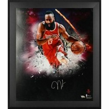 James Harden Rockets Signed 20x24 In-Focus Photo Framed Fanatics. - $490.05