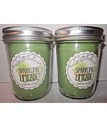 2 Bath & Body Works Mason Jar 6 oz Candle Sparkling Limeade - $24.99