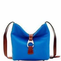 Dooney & Bourke Pebble Derby Crossbody Hobo Shoulder Bag Royal Blue