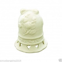 Decorative Porcelain Cream Rose Design Keepsake Ringing Bell - $5.49