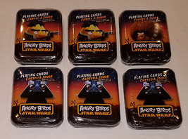 NEW 6 Decks Star Wars Angry Birds Playing Cards Tins Han Solo Darth Vade... - $29.65