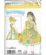 Simplicity Daisy Kingdom Pattern #3864- Girl's Dress & Visor in Sizes 5-... - $6.76