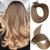 14 Inch Tape in Hair Extensions Brazilian Straight Hair Unprocessed Remy Human H image 1