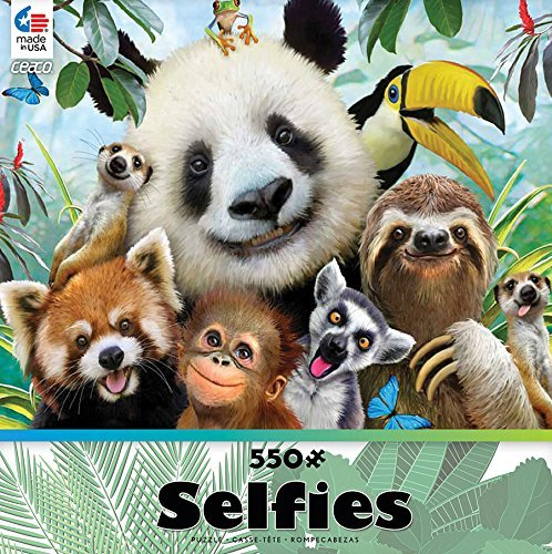 Primary image for Selfies: In the Jungle: Ceaco 550 Piece Jigsaw Puzzle
