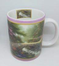 """Thomas Kinkade Coffee Cup Mug """"Bridge of Faith"""" 2002 AMCAL Nature God - $14.99"""
