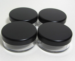 20 Beauty Containers 20 Gram Empty Plastic Cosmetic Jars Matte Black Cap... - $28.95
