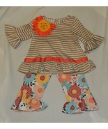 New Fall Spring Baby Toddler Girl Stripe Floral Outfit Long Sleeve 12M & 3T - $19.99