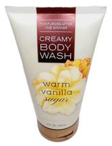 Bath & Body Works WARM VANILLA SUGAR CREAMY BODY WASH 8oz NEW Fast Shipping - $16.81