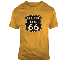 Rusted California Route 66 Road Sign T Shirt - $26.99+
