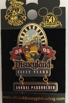 Disney Pins LE Space Mountain Passholder Exclusive Disneyland 50th Anniv... - $12.38