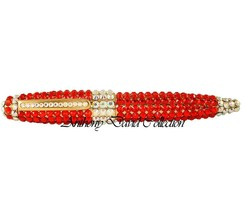 Red Crystal Ball Point Metal Writing Pen with Swarovski Crystals - $32.66