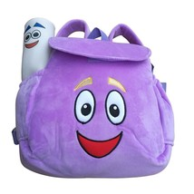 dora soft plush backpack rescue bag with map purple pink color birthday christmas gift thumb200