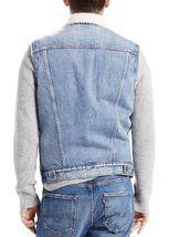 New Levi's Men's Premium Button Up Sherpa Fleece Lined Multi Pocket Denim Vest image 5
