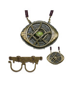 Dr Strange Ring & Necklace Eye of Agamotto Glow in the Dark Pendant Cosp... - £20.56 GBP+