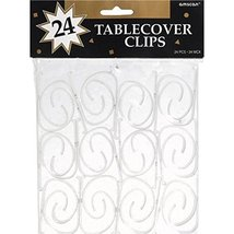 24 table clips per package Party Supplies, White - $9.99