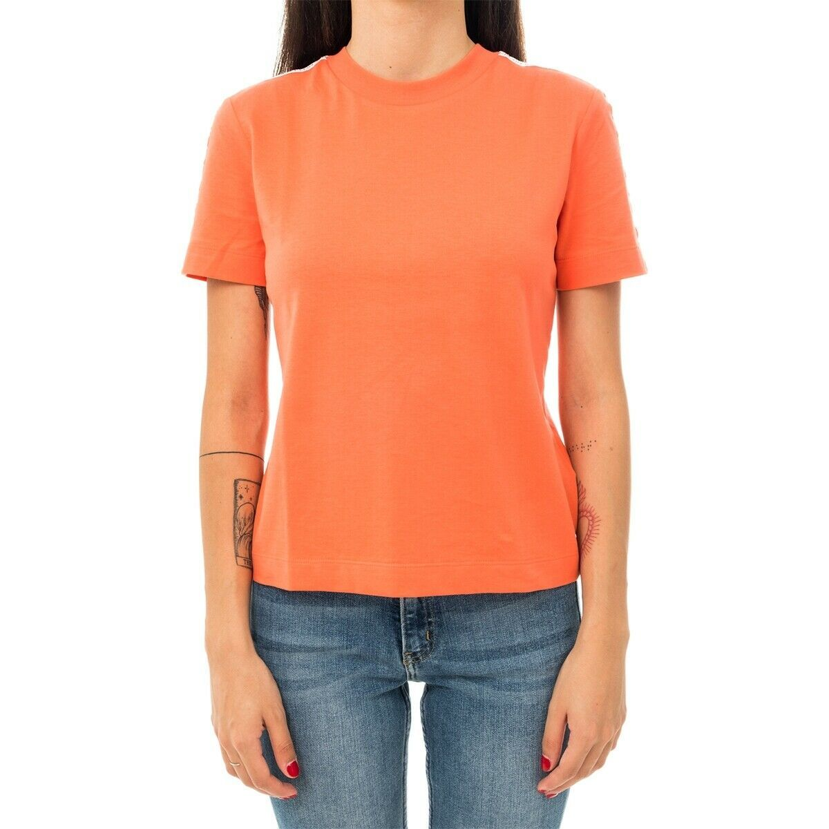 T-SHIRT DONNA CALVIN KLEIN TAPE LOGO STRAIGHT J20J211880.691 WOMAN SHORT SLEEVE