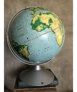 "Vintage VERY LARGE World Map Globe Metal Stand NYSTROM 50"" Pictorial Relief - $120.94"