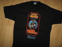 Dick Tracy T-Shirt - Disney Mgm Studios 1990 Film Warren Beatty USA T Shirt - $49.49