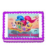 Shimmer and Shine party edible cake image cake topper frosting sheet party - $7.80