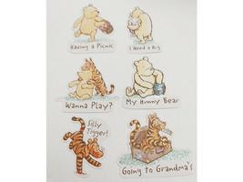 Winnie the Pooh Cardstock Ephemera, Glittered, 14 Pieces image 2