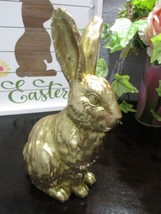 "Easter Spring Gold Bunny Rabbit Statue Figurine Tabletop Decor 8"" Tall - $18.99"