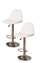 Kings Brand Adjustable Vinyl Bar Stool with Chrome Base Set of 2 Stools ... - $65.44