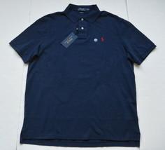 Polo Ralph Lauren Mens Classic Fit Polo Shirt Navy Blue Cotton L NWT - $39.95
